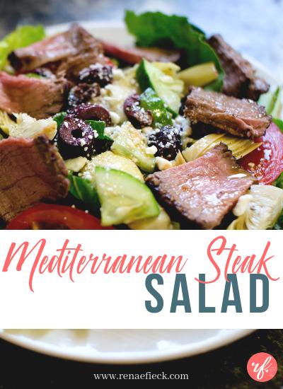 Mediterranean Steak Salad