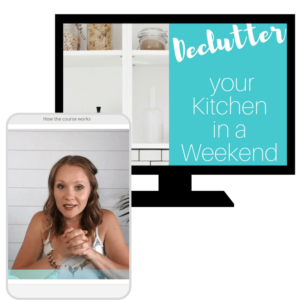 declutter kitchen in a weekend