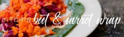 Bitchin' Beet & Carrot Wrap