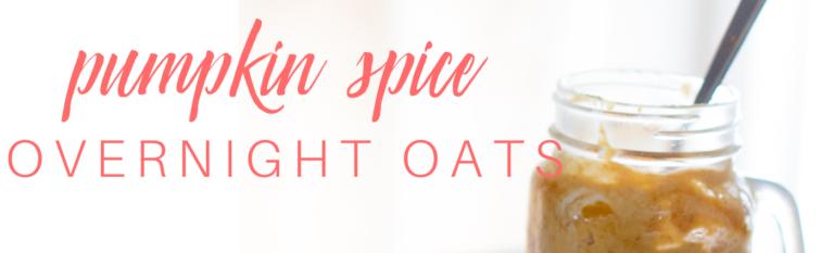 Pumpkin Spice Overnight Oats